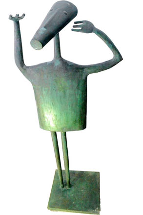 Thank God, brass, 152 x 44 x 40 cm