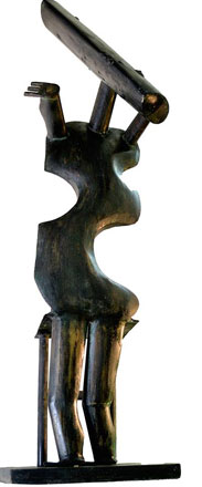 Go With The Flow, brass, 143 x 42 x 38 cm