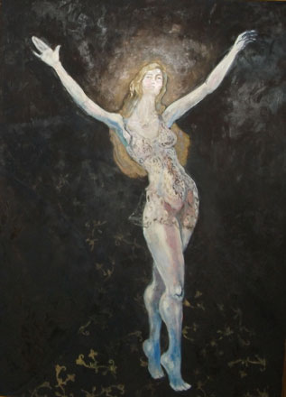 The Holy Flight, oil on wood, 140 x 100 cm