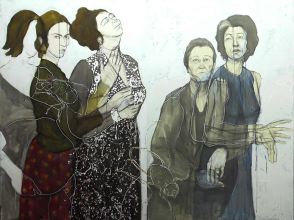 Lest We Forget, 2013, pen chinese ink and acrylic on card board, 120 x 160 cm