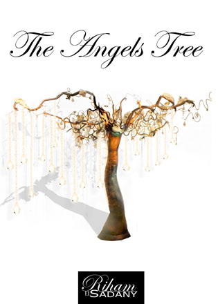 The Angels Tree, installation, mixed media, 240 x 30 x 30 cm