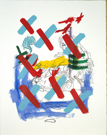 The Boat, 2002, screenprint with hand painting, 72 x 57 cm
