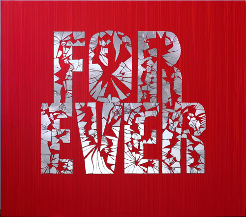 ForEver, 2013, mirrors mixed media on canvas, 160 x 180 cm