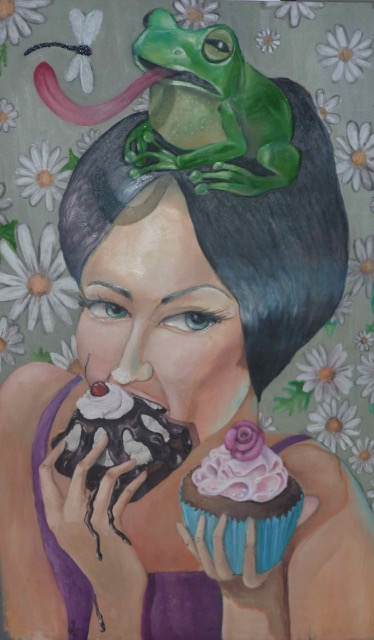 Have My Cake And Eat it, 2014, oil on canvas, 170 x 100 cm