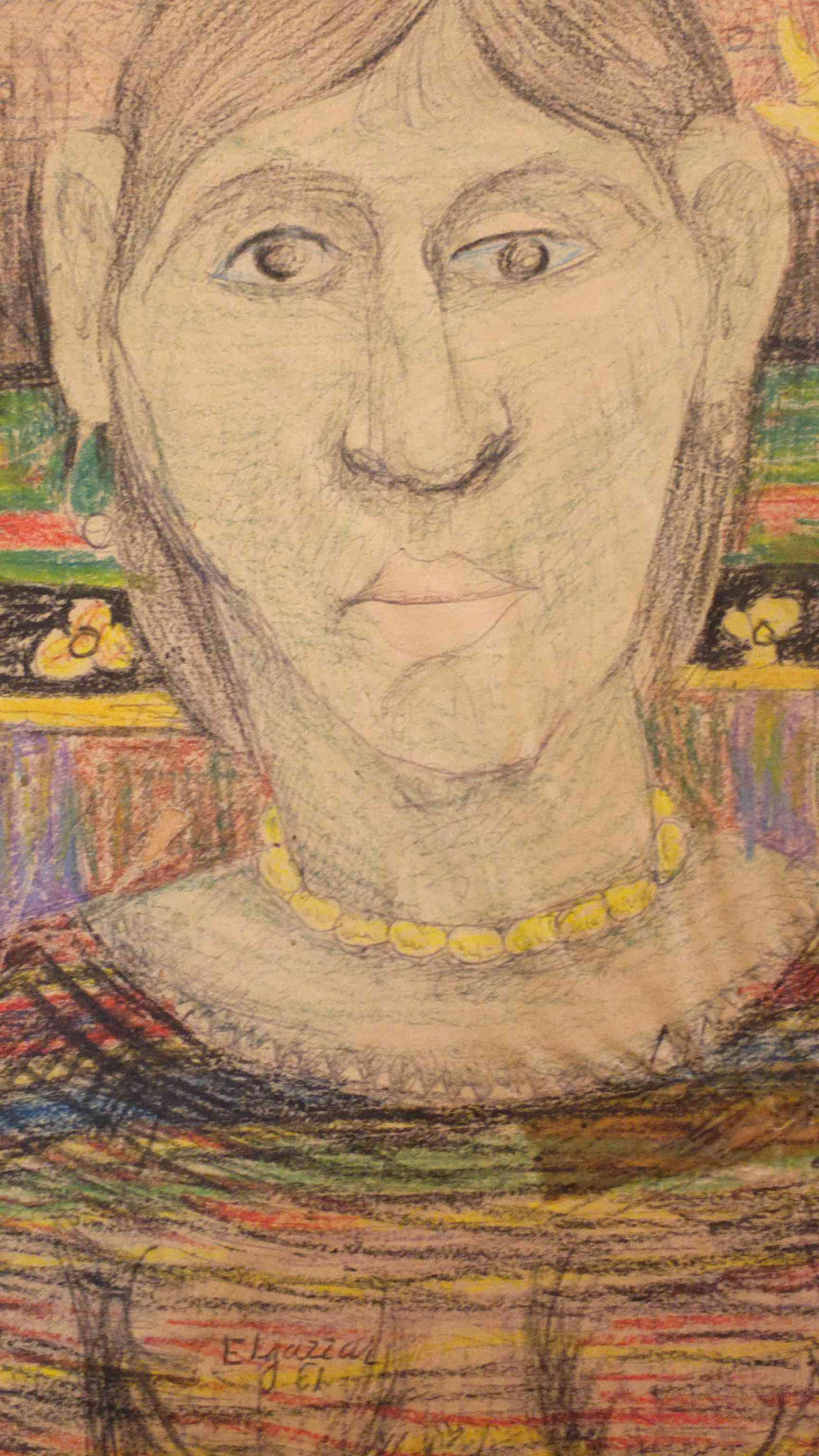 Face, work on paper, signed and authenticated