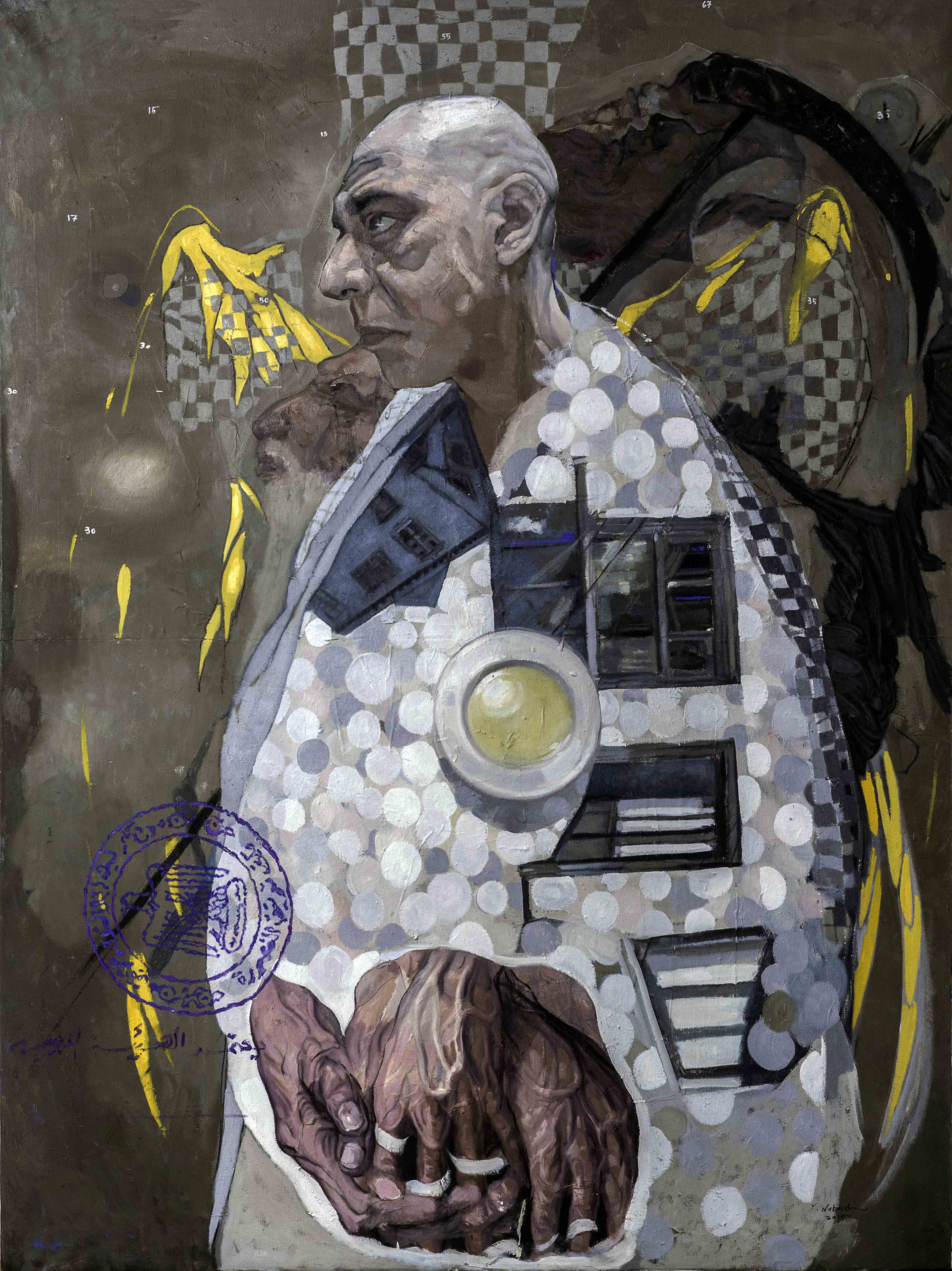 Yasser Nabaiel Only God Can Judge Me, 2015 oil on canvas | 200 x 150 cm