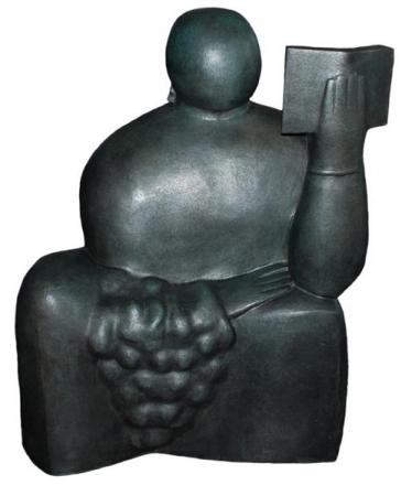 The Reader, 1968, Bronze,  98 x 73 x 37 cm