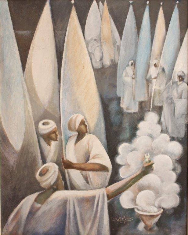Dervishes / Daraweesh, 2009 Oil on canvas 130 x 75 cm