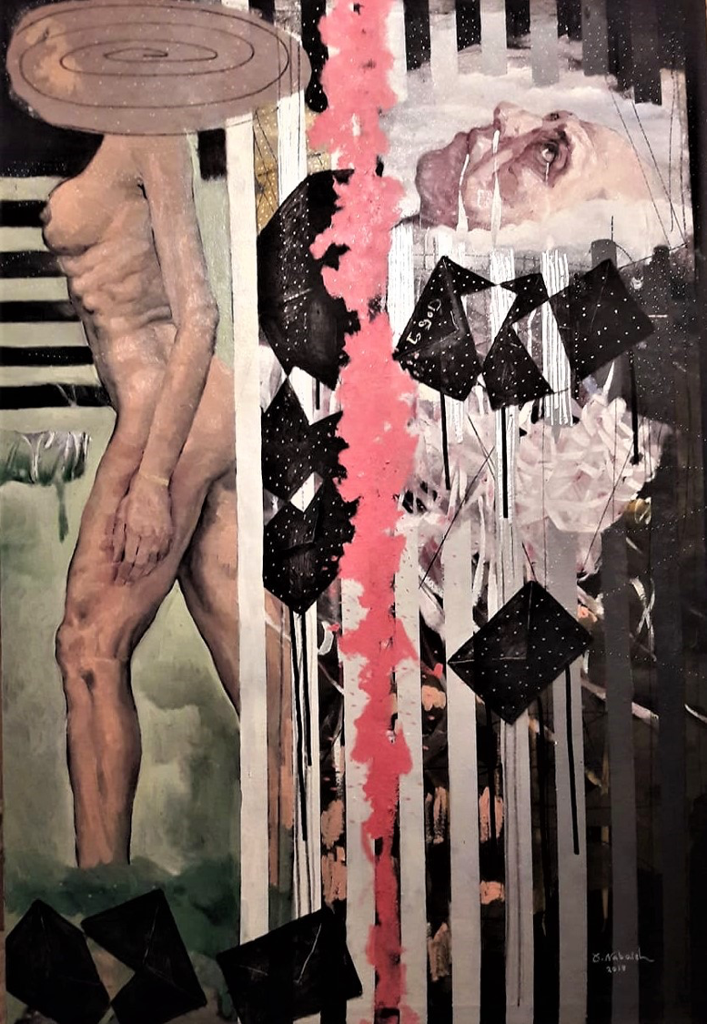 Dark Letters to God, 2019, oil on canvas, 200×150 cm