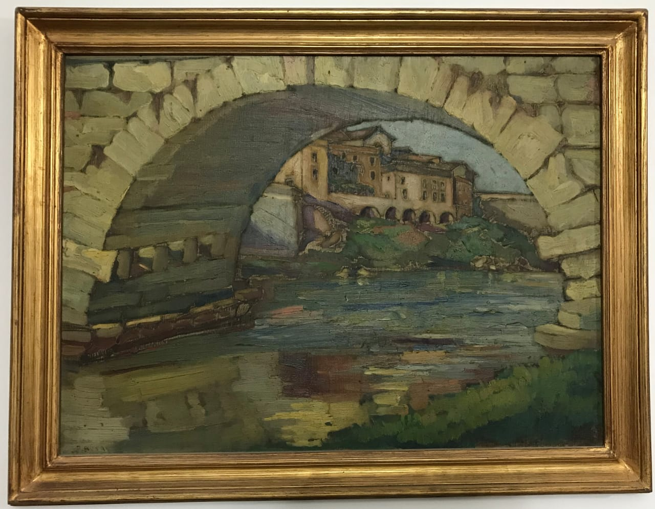Ragheb Ayad, Roma 1928 70x65cm Oil on wood Signed and dated bottom left