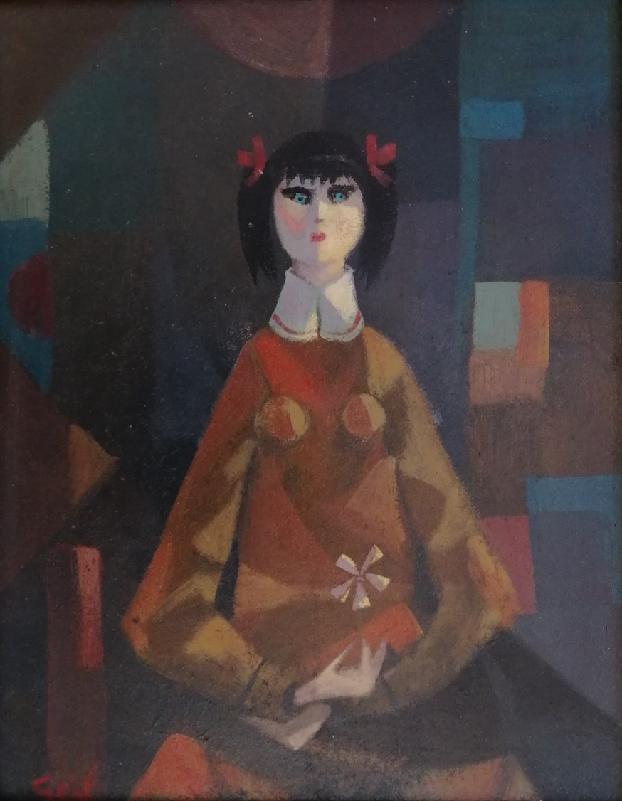 SEIF WANLY (1906-1979). Untitled, Oil on wood 35 x 27cm. Signed lower left  AMA-212