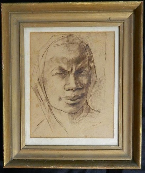 AMY NIMR (1898–1974) 20 x 25 cm Ink on paper Signed and dated 1932 Lower right