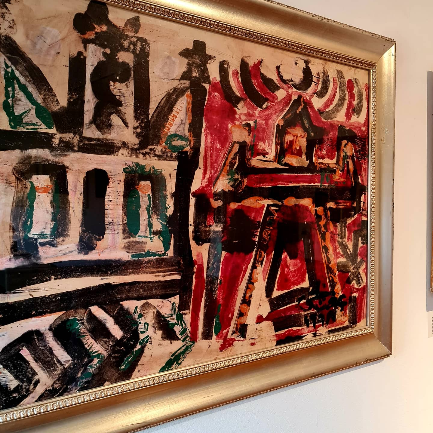 EFFAT NAGHI (1905-1994) 67 x 90 cm Oil on cardboard Signed and dated 1968 lower right
