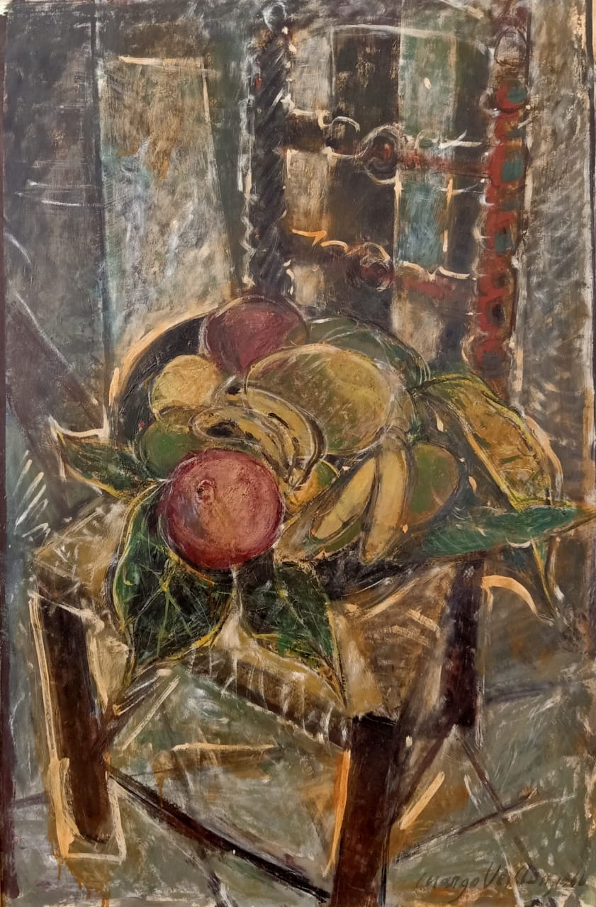 MARGO VEILLON (1907-2003) 100 x 70 cm Oil on wood Signed and dated 1966 lower right