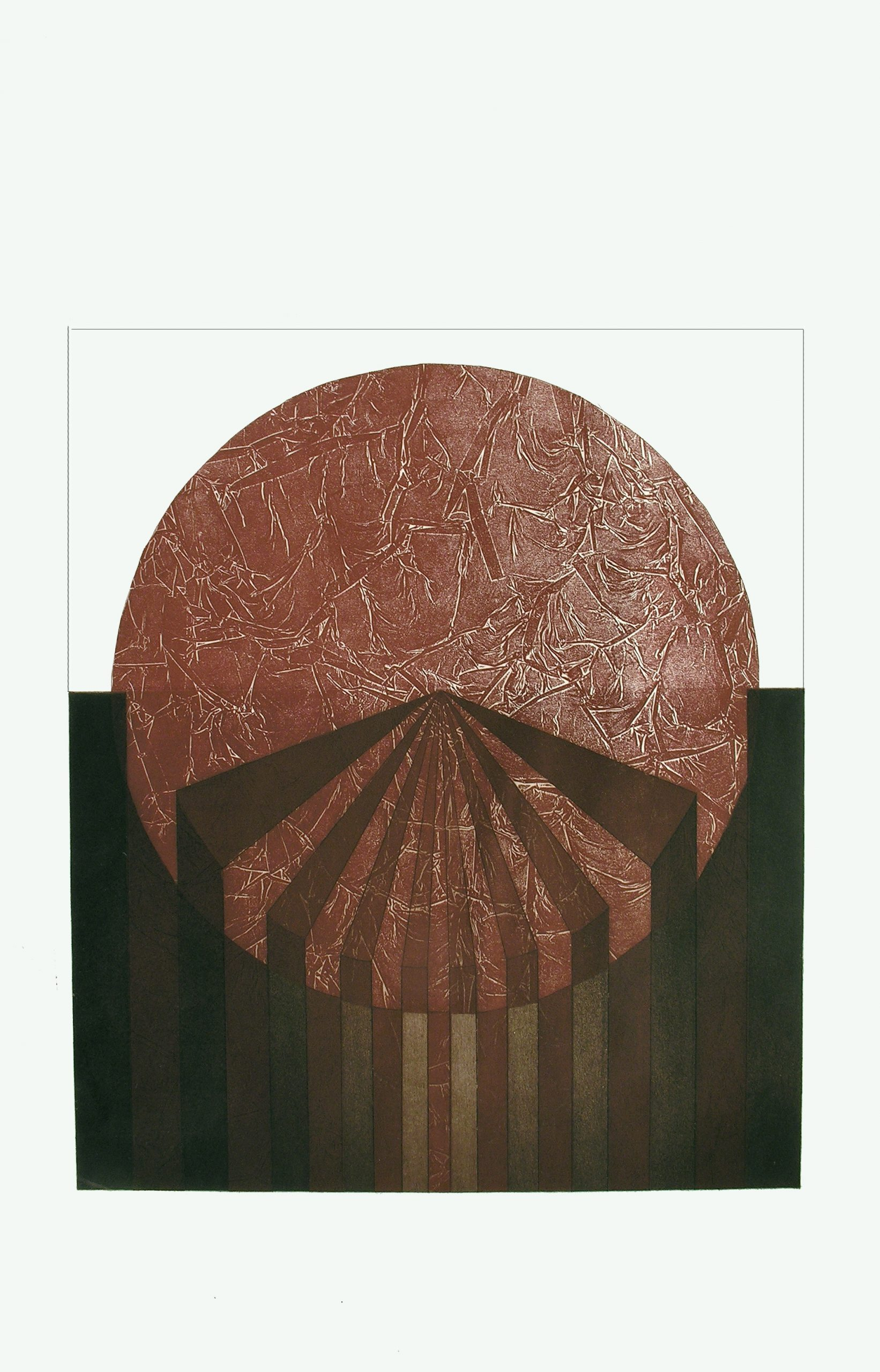 MENHAT HELMY (1925 – 2004) To the Point, 1978. Etching on paper 74 x 50 cm