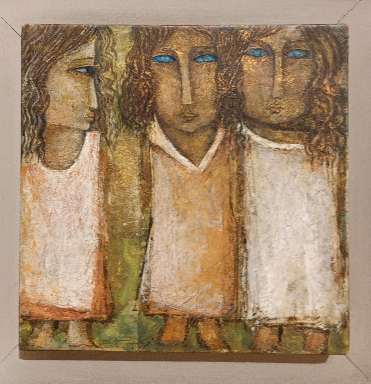 Zeinab Al Saginy (1930) 20 x 20 cm Oil on wood Signed and dated 1994 lower left