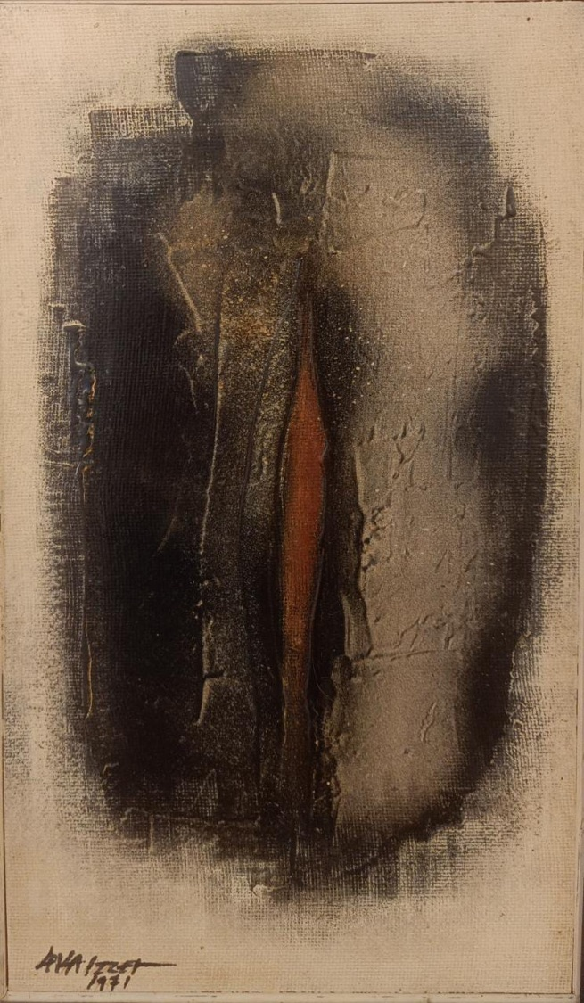 LEILA IZZET (1933) 32 x 54 cm Oil on wood Signed and dated 1971