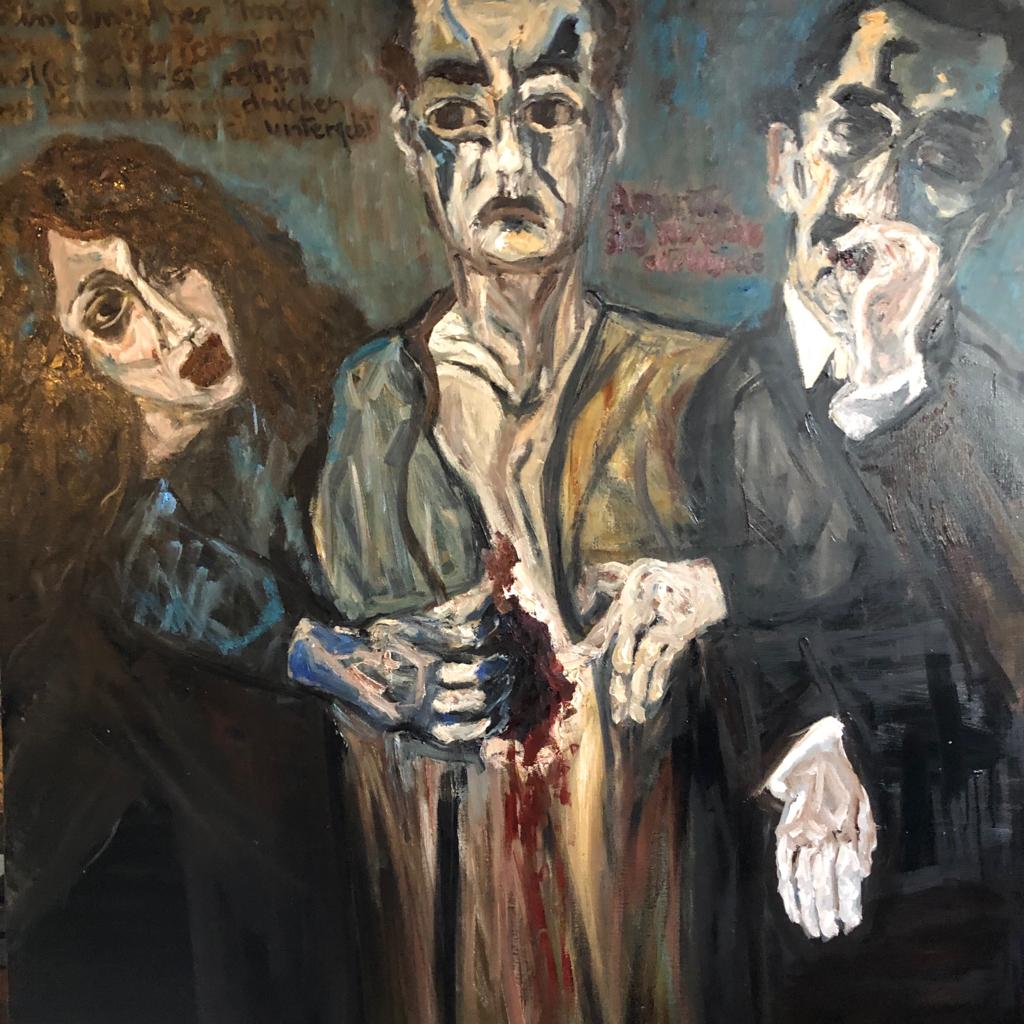 DINA EL SIOUFI / Blessure Humaine / 150 x 137cm / Oil on Linen / GBP £ 6,000 / PALESTINE-118