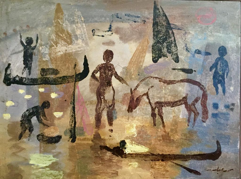 MOHAMED ABLA / The Nile Series / 60 x 80 cm / Oil on canvas / USD 6,000 / PALESTINE-159